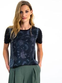 garcia t-shirt met print i90006 zwart