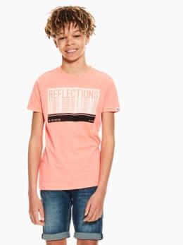 garcia t-shirt met tekstprint oranje q03400