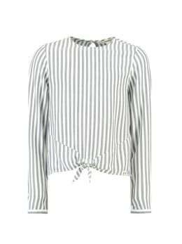 garcia blouse h92632 gestreept wit grijs