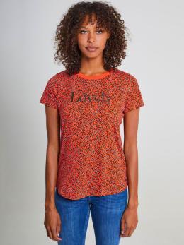garcia t-shirt met allover print pg900910 rood