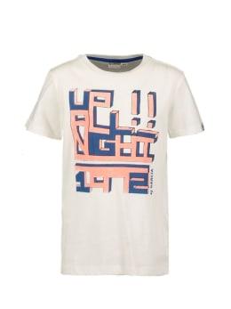 garcia t-shirt met opdruk n05401 wit