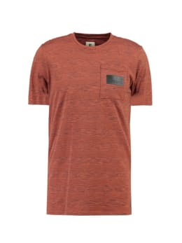 garcia gestreept t-shirt gs910700 rood-bruin