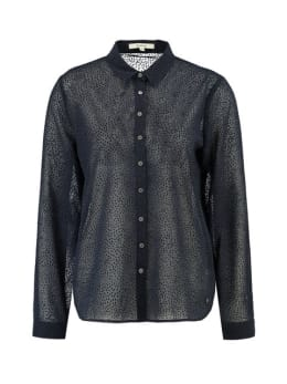 garcia blouse met stipjes j90238 blauw