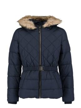 garcia puffer jas met ceintuurband gj920902 blauw