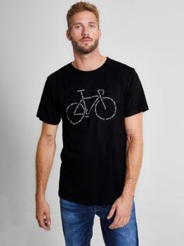 dedicated t-shirt met tekst zwart