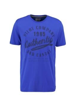 pilot t-shirt met opdruk blauw pp010401
