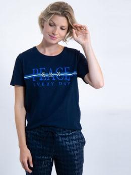 garcia t-shirt met tekst j90203 blauw