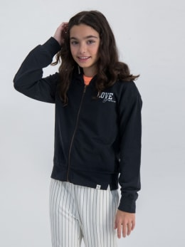garcia vest met opdruk gs020102 zwart