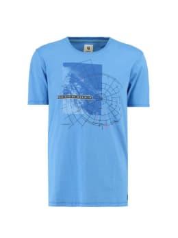 garcia t-shirt met print g91003 blauw