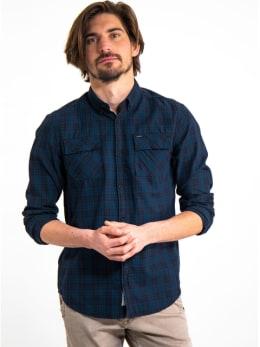 garcia geruit overhemd I91029 blauw