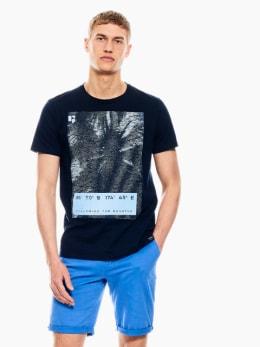 garcia t-shirt met opdruk donkerblauw q01004