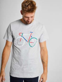 dedicated t-shirt met opdruk grijs