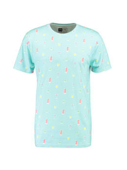 dedicated T-shirt met print stockholm blauw