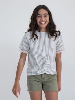 garcia t-shirt met strepen o02434 wit