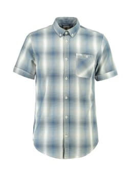garcia overhemd korte mouwen e91025 blauw