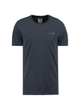 garcia t-shirt met allover print g91010 blauw