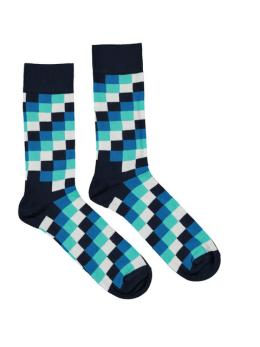 sokken Happy Socks Square Navy White Blue men
