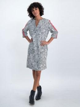 garcia tuniek met stippenprint n00283 wit