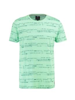 chief t-shirt met print PC910604 mintgroen