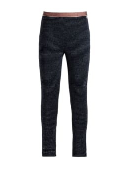 garcia legging met glitters k94523 donkerblauw