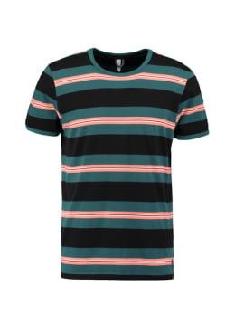 chief t-shirt gestreept groen pc010407