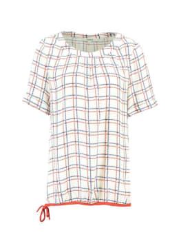 garcia geruite blouse h90235 wit