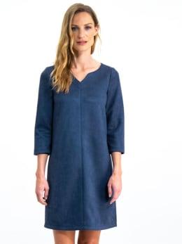 garcia suedine jurk gs900780 blauw