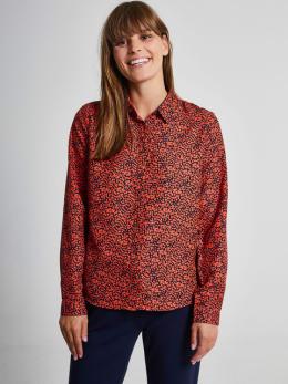 garcia blouse met allover print pg900908 rood