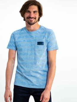 garcia gestreept t-shirt gs910700-2824 blauw