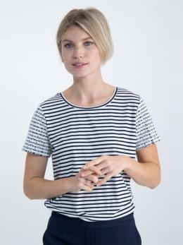 garcia t-shirt gestreept o00010 donkerblauw