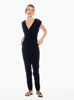 garcia jumpsuit zwart p00286