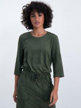 garcia suedine t-shirt m00003 groen