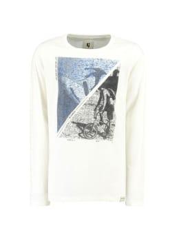 garcia t-shirt met opdruk g93404 wit