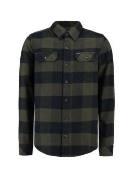 garcia geruit overhemd j93630 groen