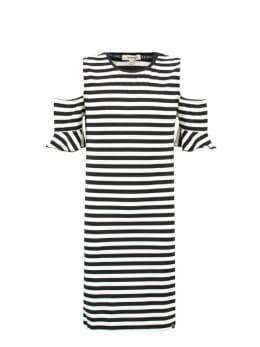 garcia jurk e92484 gestreept zwart