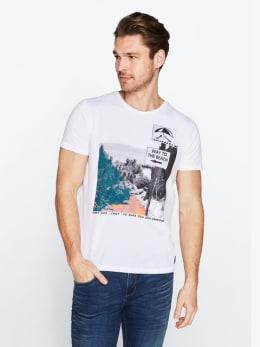 chief t-shirt met opdruk pc010303 wit