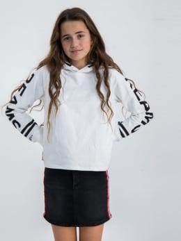 garcia hoodie met opdruk gs020100 wit