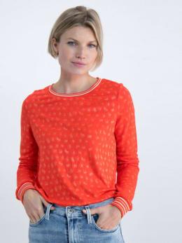 garcia t-shirt met geweven patroon n00260 rood