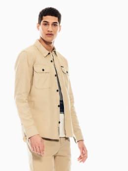 garcia utility overhemd beige q01037