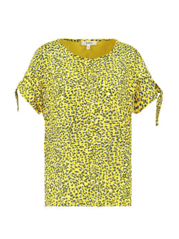 garcia t-shirt met strik e90009 geel