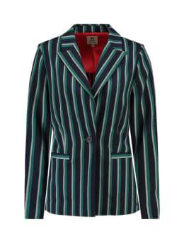 garcia blazer met strepen j90293 blauw