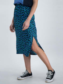 garcia rok met allover print o00120 donkerblauw