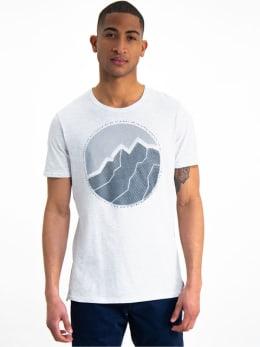 garcia t-shirt met opdruk I91003 wit