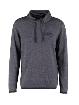 pilot sweater met overslag col pp910801 grijs