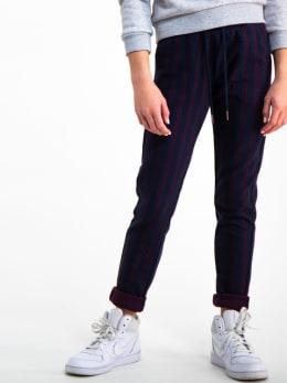 garcia gestreepte broek i92520 blauw-rood
