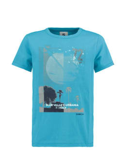 garcia t-shirt met opdruk e93400 blauw
