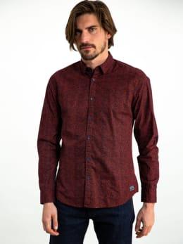 garcia overhemd met allover print I91021 oranje-rood