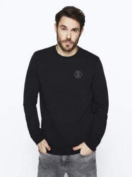 chief sweater met opdruk pc010101 zwart