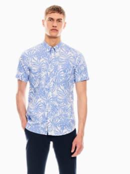 garcia overhemd met allover print lichtblauw q01034