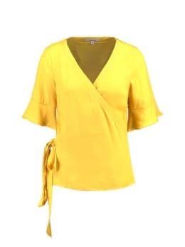 garcia t-shirt v-hals e90035 geel